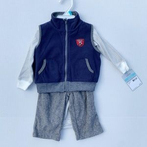 NWT 3 Pc Carter's Football Outfit with Vest, 6 mo